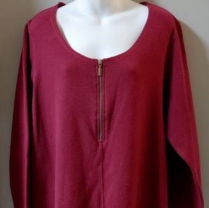 Avenue Zip It Tunic Dark Pink Size 22/24